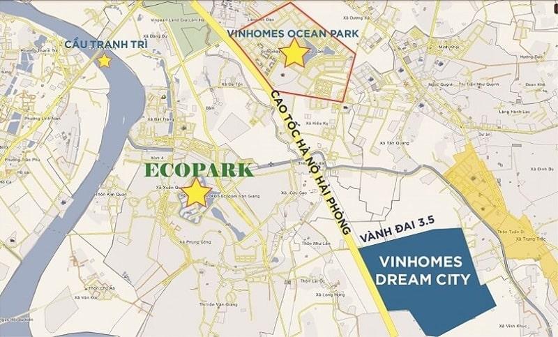 Vị Trí Vinhomes Dream City 02