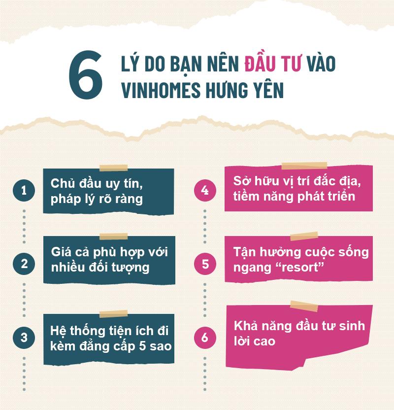 6 l ý do nên đầu tư vào Vinhomes Hưng Yên